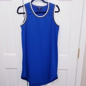 ABS Allen Schwartz Surf the Web Blue Dress